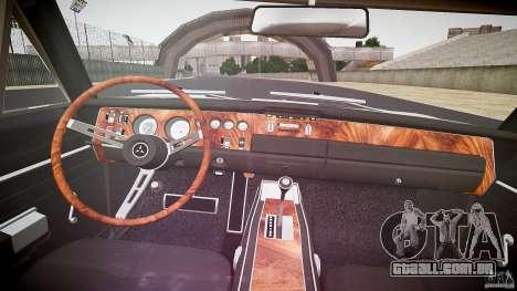 Dodge Charger RT 1969 v1.0 para GTA 4 vista superior
