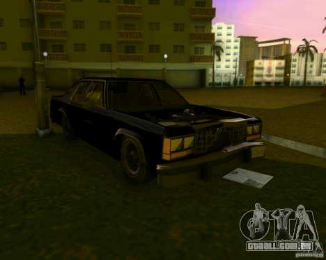 Ford Crown Victora LTD 1985 para GTA Vice City vista superior