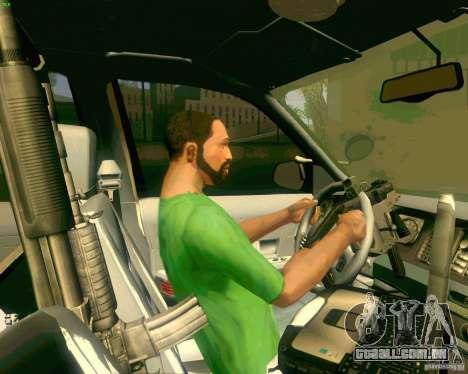 Ford Crown Victoria 2003 NYPD police para GTA San Andreas vista inferior