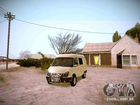 GAZ 2217 negócios para GTA San Andreas vista traseira