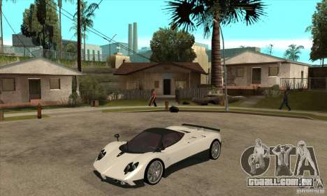 Pagani Zonda F Speed Enforcer BETA para GTA San Andreas esquerda vista