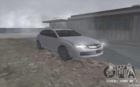 Subaru Impreza-estilo SA para GTA San Andreas esquerda vista