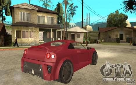 Mastretta MXT para GTA San Andreas vista direita
