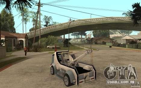 Lil Redd Wrecker para GTA San Andreas traseira esquerda vista