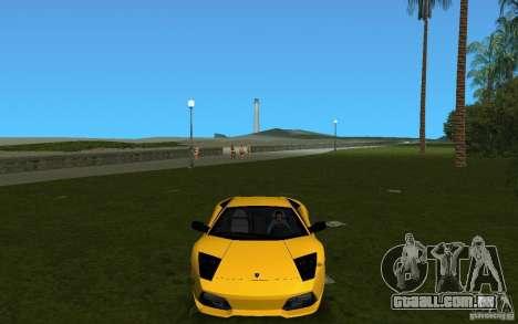 Lamborghini Murcielago LP640 para GTA Vice City vista traseira esquerda