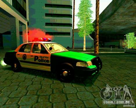 Ford Crown Victoria 2003 Police Interceptor VCPD para GTA San Andreas vista traseira