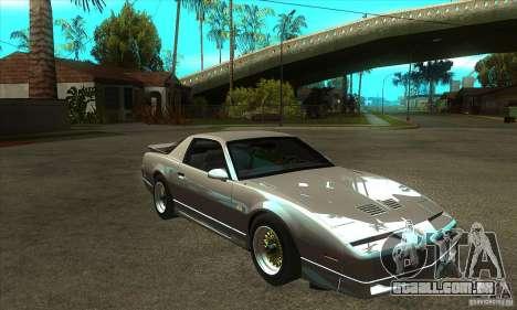 Pontiac Trans AM 1987 para GTA San Andreas vista traseira