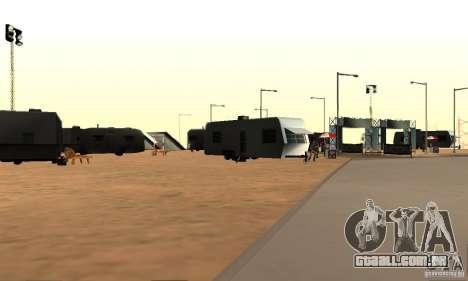 Faixa à deriva, o Big Ear v1 para GTA San Andreas terceira tela