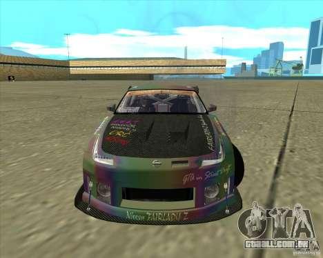 Nissan 350Z Fairlady para GTA San Andreas traseira esquerda vista
