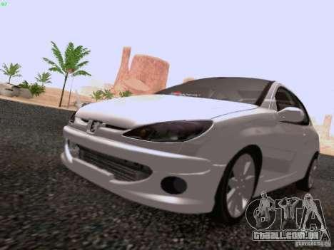 Peugeot 206 para GTA San Andreas vista direita