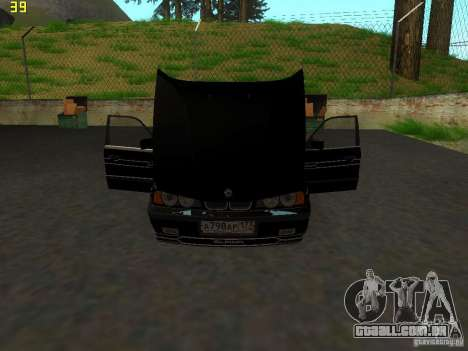 BMW E34 Alpina B10 Bi-Turbo para GTA San Andreas vista traseira