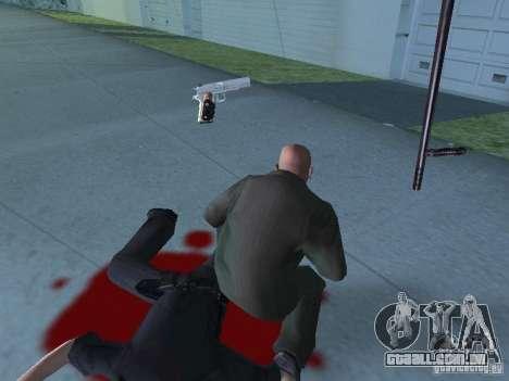Silverballer do Hitman para GTA San Andreas por diante tela