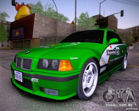 BMW M3 E36 1995 para GTA San Andreas vista interior