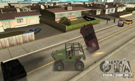 Jeep Willys Rock Crawler para GTA San Andreas esquerda vista