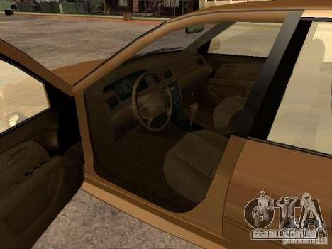 Toyota Camry 2002 TRD para GTA San Andreas traseira esquerda vista
