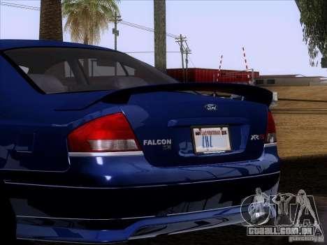 Ford Falcon para GTA San Andreas vista interior