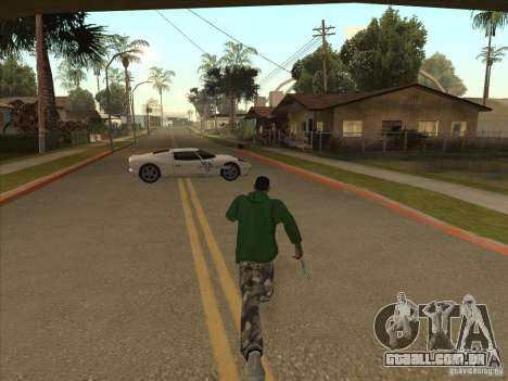 O script CLEO: Super carro para GTA San Andreas por diante tela