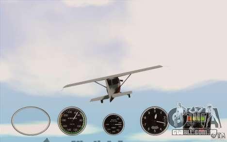 Instrumentos de ar em um avião para GTA San Andreas terceira tela