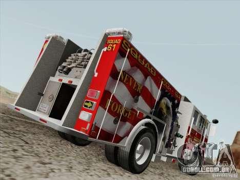 Seagrave Marauder. F.D.N.Y. Squad 61. para GTA San Andreas