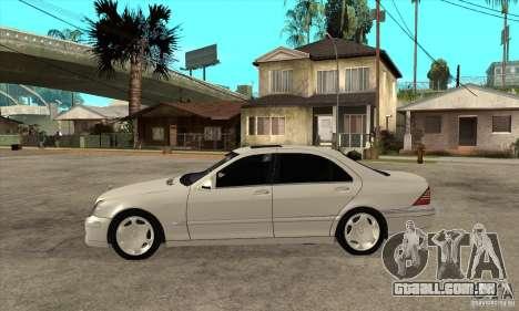 Mercedes Benz S600 para GTA San Andreas esquerda vista