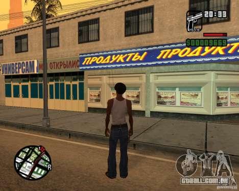 Russian shop para GTA San Andreas segunda tela
