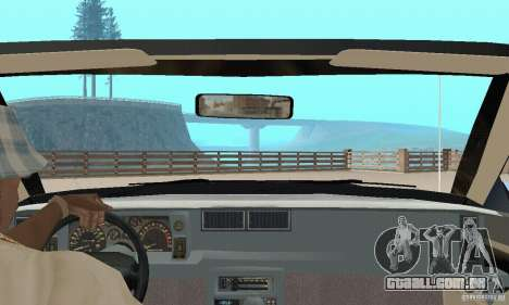 Chevrolet Camaro RS 1991 Convertible para GTA San Andreas vista interior