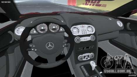 Mercedes-Benz McLaren SLR 722 v2.0 para GTA 4 vista de volta