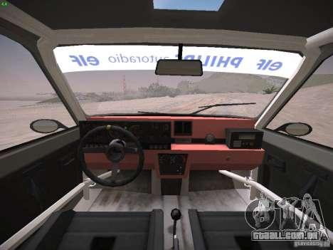 Renault 5 Turbo para GTA San Andreas vista traseira