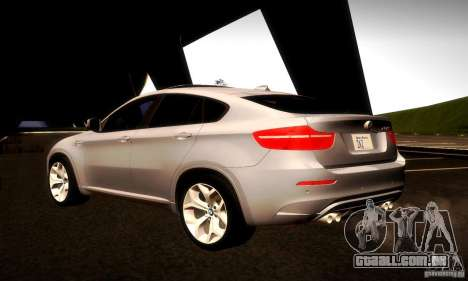BMW X6M para GTA San Andreas vista interior