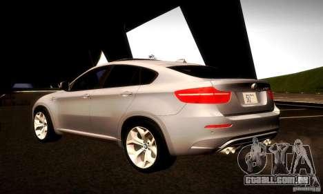 BMW X6M para GTA San Andreas vista interior