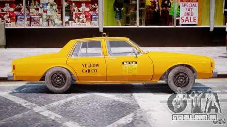 Chevrolet Impala Taxi 1983 [Final] para GTA 4 traseira esquerda vista