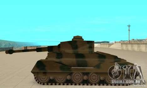 Tanque Tiger-RL para GTA San Andreas esquerda vista