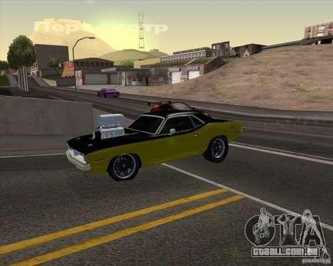 Plymouth Hemi Cuda 440 para o motor de GTA San Andreas