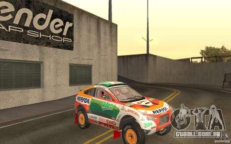 Mitsubishi Racing Lancer para GTA San Andreas vista traseira