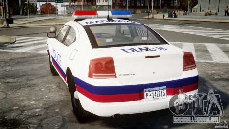 Dodge Charger Karachi City Police Dept Car [ELS] para GTA 4 traseira esquerda vista