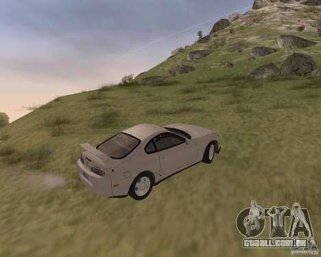 Toyota Supra 3.0 24V para GTA San Andreas vista traseira