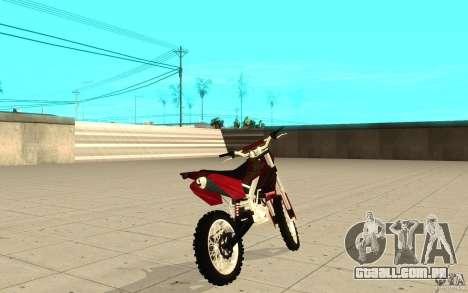 GTAIV Sanchez para GTA San Andreas traseira esquerda vista