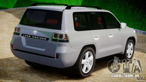 Toyota Land Cruiser 200 2007 para GTA 4 vista direita