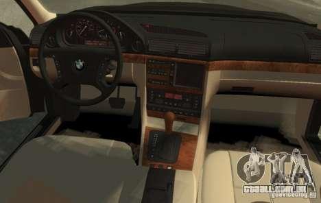 BMW 750i E38 1998 M-Packet para GTA 4 esquerda vista