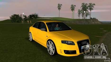 Audi RS4 para GTA Vice City vista traseira
