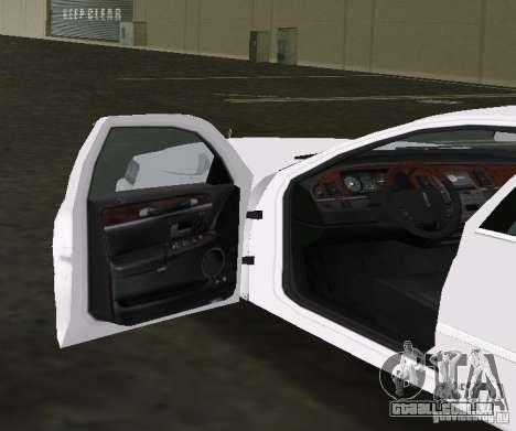 Lincoln Town Car para GTA Vice City vista traseira