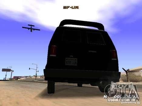 Burrito HD para GTA San Andreas vista traseira