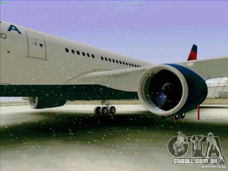 Airbus A330-200 para GTA San Andreas vista traseira