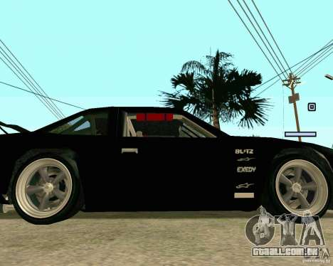 Hotring Racer Tuned para GTA San Andreas vista superior