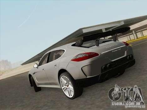 Porsche Panamera Turbo 2010 para GTA San Andreas esquerda vista