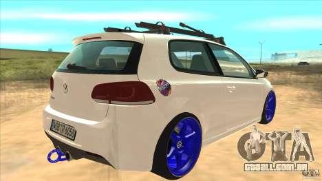 Volkswagen Golf MK6 Hybrid GTI JDM para GTA San Andreas vista direita