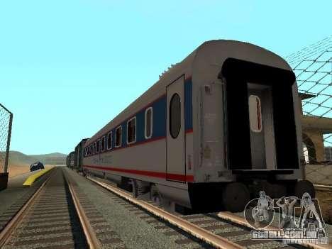 Nevsky express para GTA San Andreas traseira esquerda vista