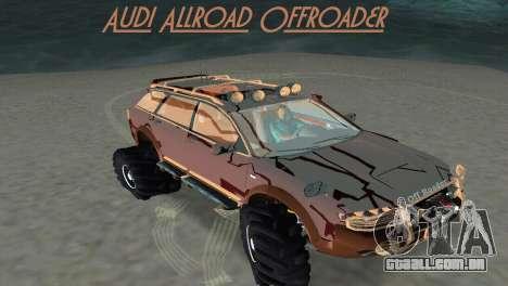 Audi Allroad Offroader para GTA Vice City