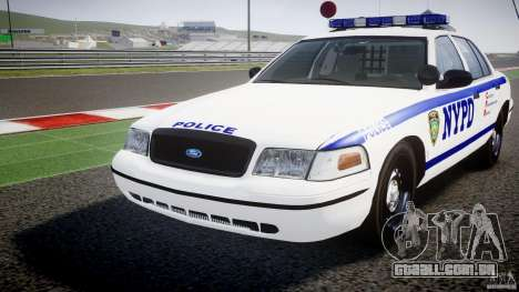 Ford Crown Victoria NYPD [ELS] para GTA 4 vista lateral