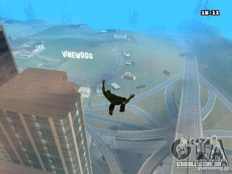 Parkour Mod para GTA San Andreas oitavo tela